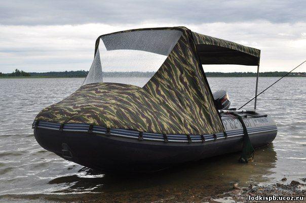 Из чего делают тенты для лодок